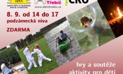 Volný čas není nuda - Veletrh volného času. 8. 9. 2018 Třebíč, podzámecká niva.